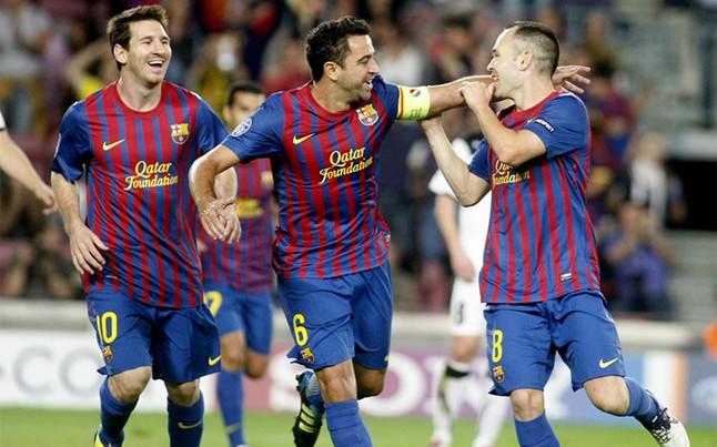 Messi-Xavi-Iniesta