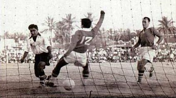 Ammo Baba netting one of his many goals (source: iraqsport.com)