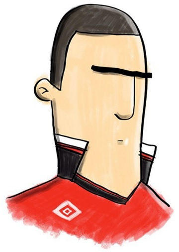 The signature turned up collar of Cantona, by Dan Leydon