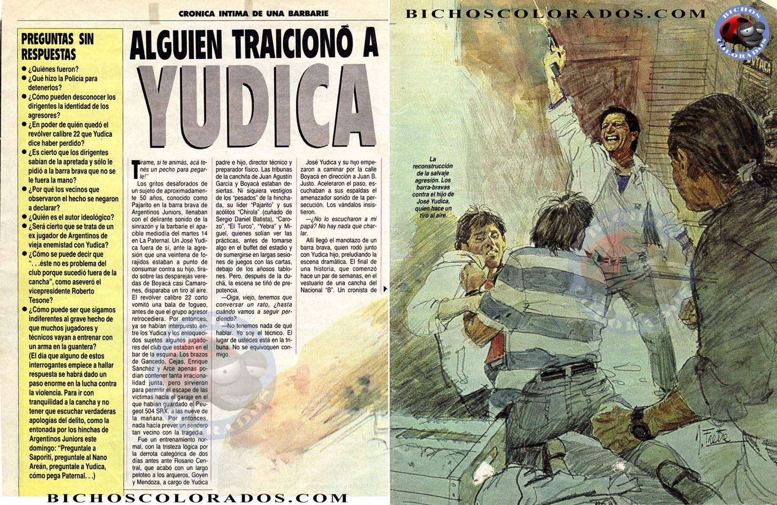 Graphic illustration of Jose Yudica incident (Source: Bitchoscolorados.com)