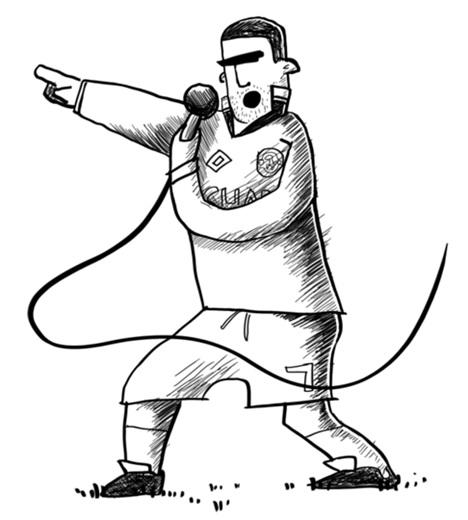 Cantona - a true Rock star, conceived by Dan Leydon