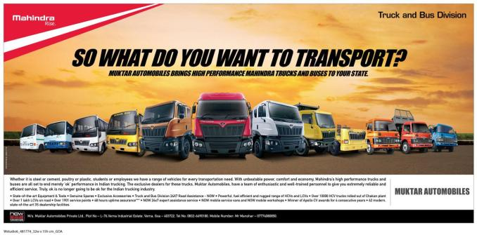 Smg Is The New Dealer For Mahindra Trucks And Buses