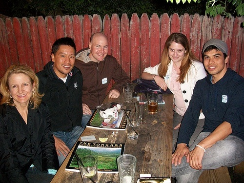Clockwise from bottom left: Carolyn, Bruce, Dave, Stephanie, and Sebastien
