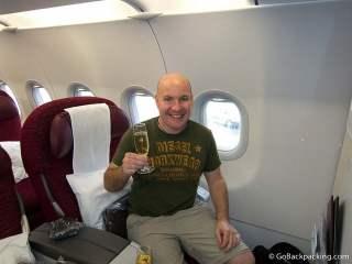 Flying Business Class on Qatar Airways