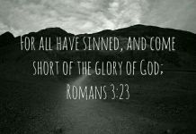 Romans 3:23 For all have sinned, and come short of the glory of God;