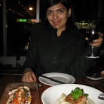 Me enjoying the amazine dinner