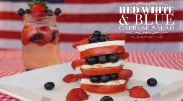 Red White and Blue Caprese Salad for Easy Entertaining #SundaySupper