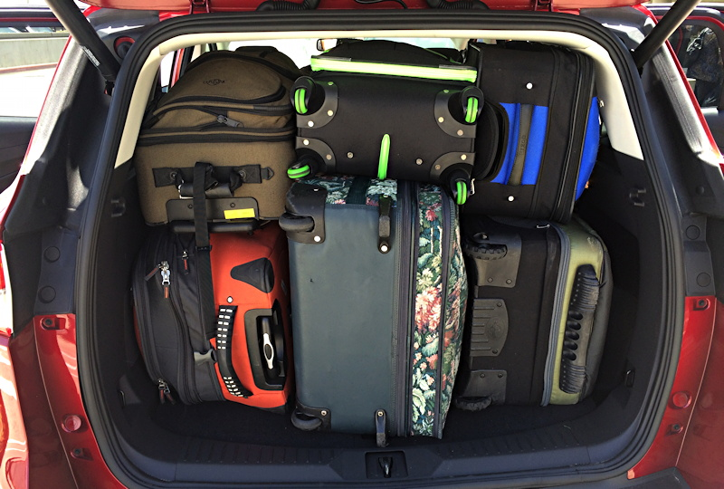 luggage fit perfectly in back of Ford Escape