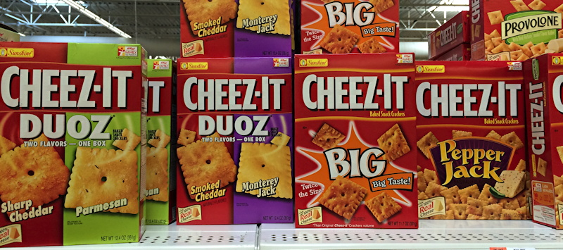 so many choices: cheez-it duoz and snack crackers at walmart