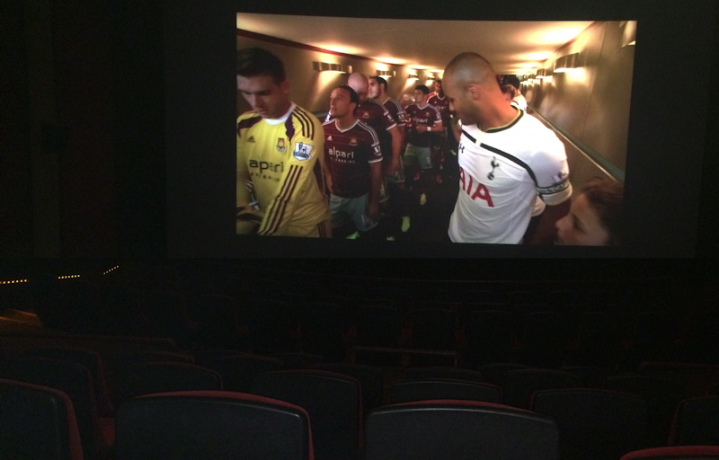 premier league fathom events tottenham hotspur on a movie screen