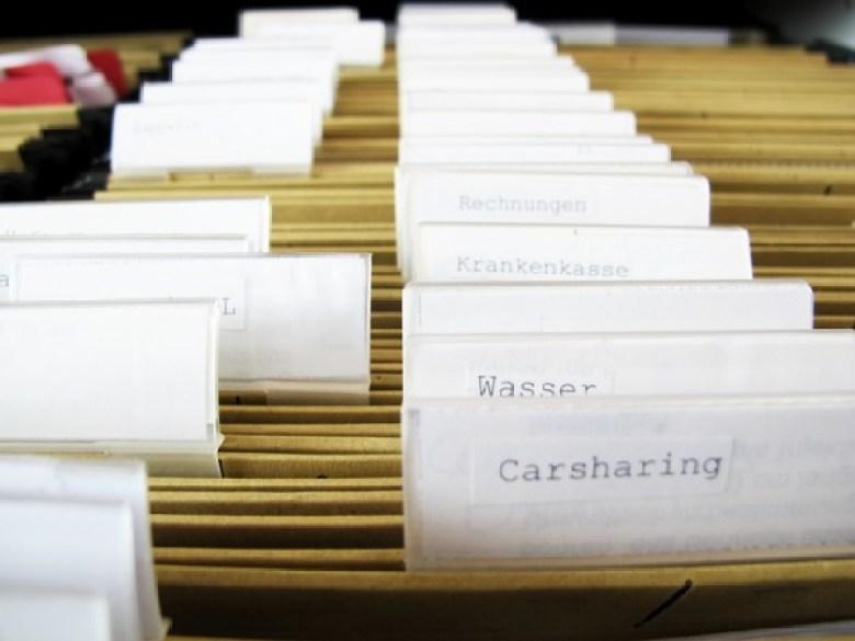 Register, Hängeregister, Hängemappen, Hängeregistratur
