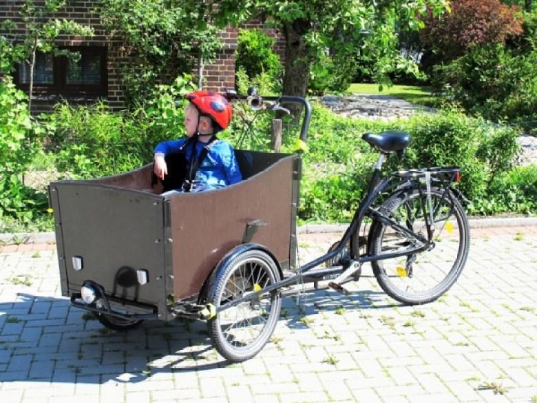 Bakfiets, Cargobike, Grün, Fahrrad, Christianiarad, Christianiabike, Lastenfahrrad, Leben Ohne Auto