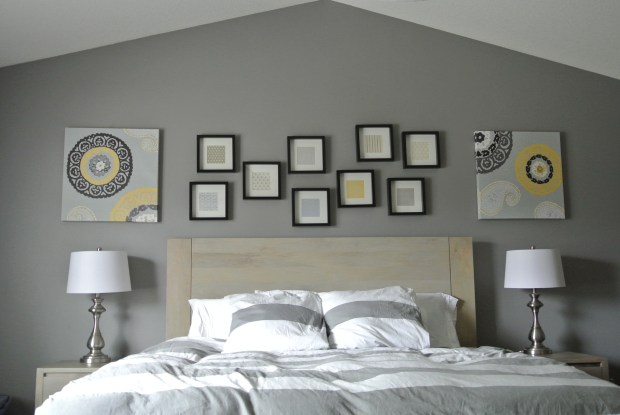 Master bedroom wall gallery 1