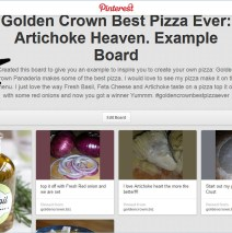 Pinterest Contest: Create the best Pizza Ever