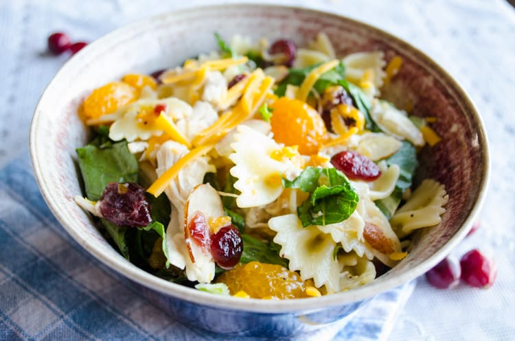 Chicken Bowtie Pasta Salad Bowl