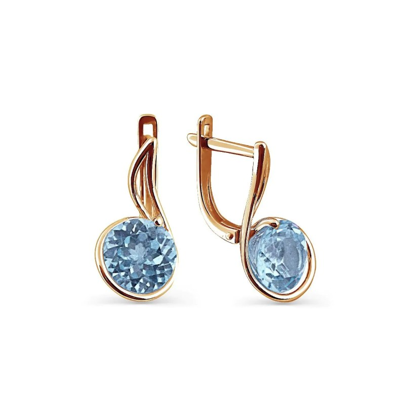 Large Of Blue Topaz Earrings