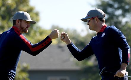 US Sweeps Ryder Cup Morning Foursomes; Four Ball Matches Announced