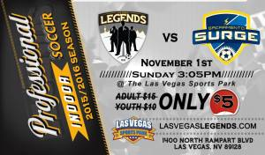 MASL West Div: Sacramento at Las Vegas Legends Nov 1st, 3:05pm live video streaming arena soccer