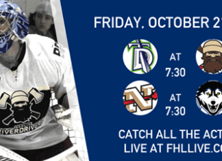 FHL Exhibition Game: Cornwall Nationals at Watertown Wolves Fri Oct 21 7:30PM