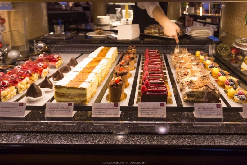 Every respectable café has a huge array of delectable pastries. Dig in!