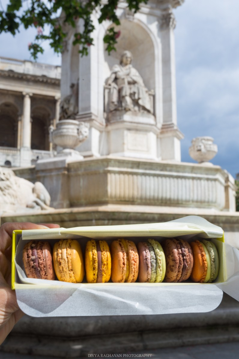 Macaron picnic at Saint Sulpice, Paris, France || Paris in two days, a complete guide and itinerary to the city of lights in France.