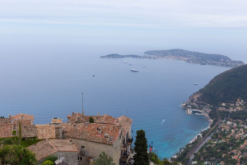 Eagle's view from the cactus garden atop Eze