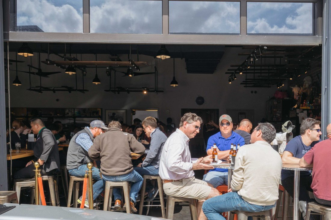 The dining room at Cochon Butcher opens up to indoor/outdoor when the weather is nice, which is often! Cochon Butcher makes some of the finest sandwiches on the planet and is routinely a must-visit place I take friends who visit from out of town.