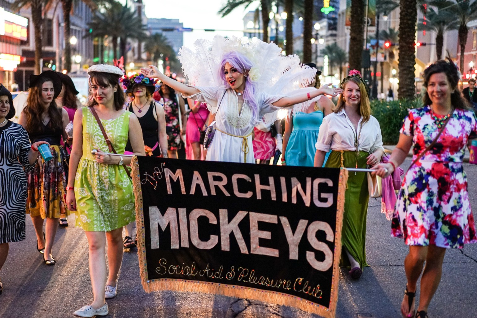 The Marching Mickeys participate in the Stiletto Stroll at Festigals. (Photo: Paul Broussard)