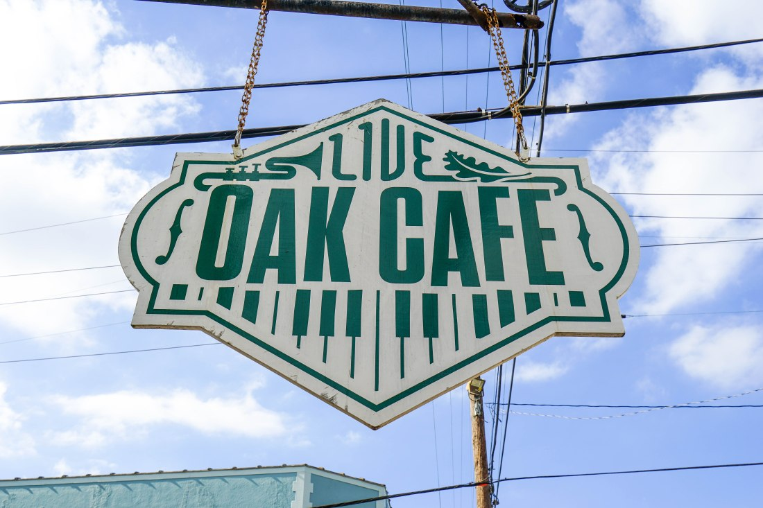 Looking for breakfast with a side of jazz? Live Oak Cafe has casual, stick to your ribs breakfast with live music daily from 10 AM - 1 PM in this breakfast and lunch spot. More than one person I spoke with on my stroll told me I needed to get a biscuit there before they closed for the day!