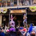 """""""Greasing of The Poles"""" at the Royal Sonesta. (Photo: Paul Broussard)"""