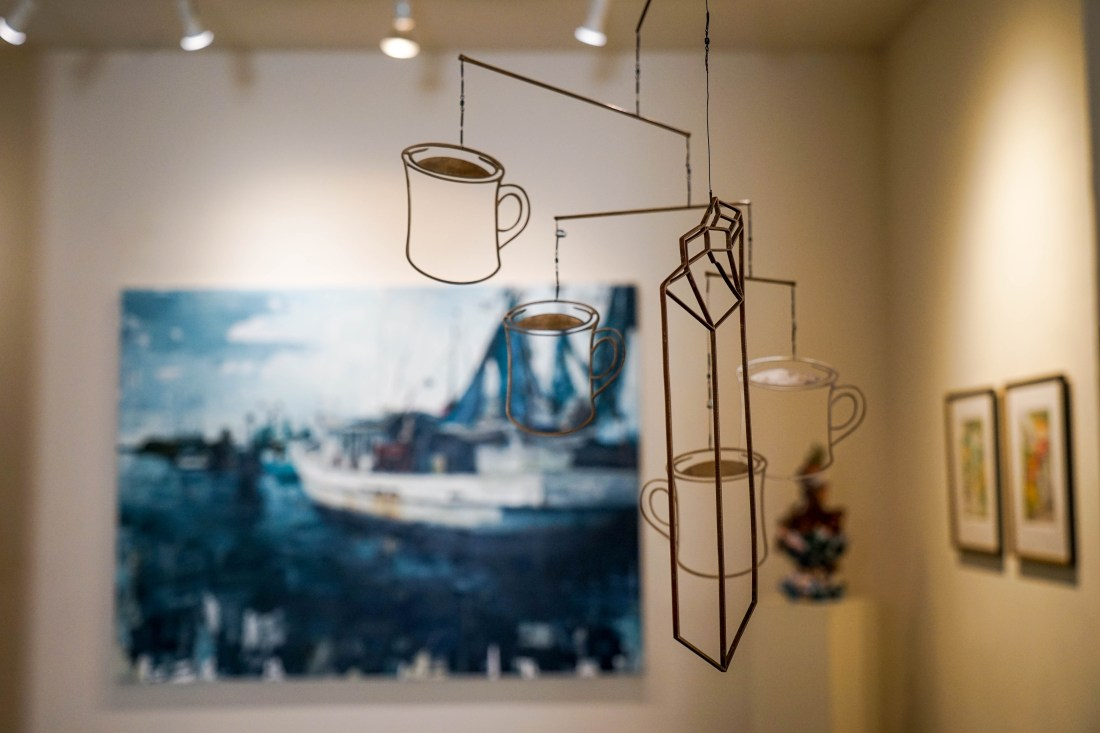 I'm obsessed with this bronze mobile at Le Mieux Gallery on Julia Street entitled '4 Cups=1 Quart' by artist Christopher Saucedo. I think it has something to do with my love for the coffee culture of New Orleans.