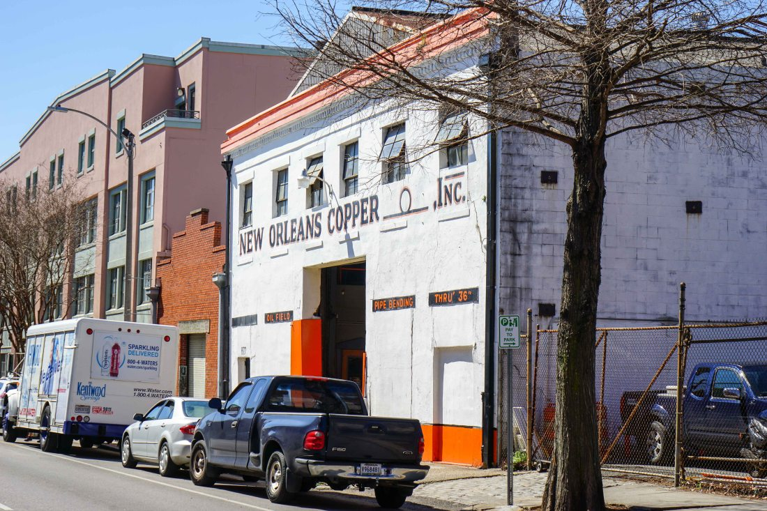 There's still some active industrial manufacturing happening in the Warehouse District.