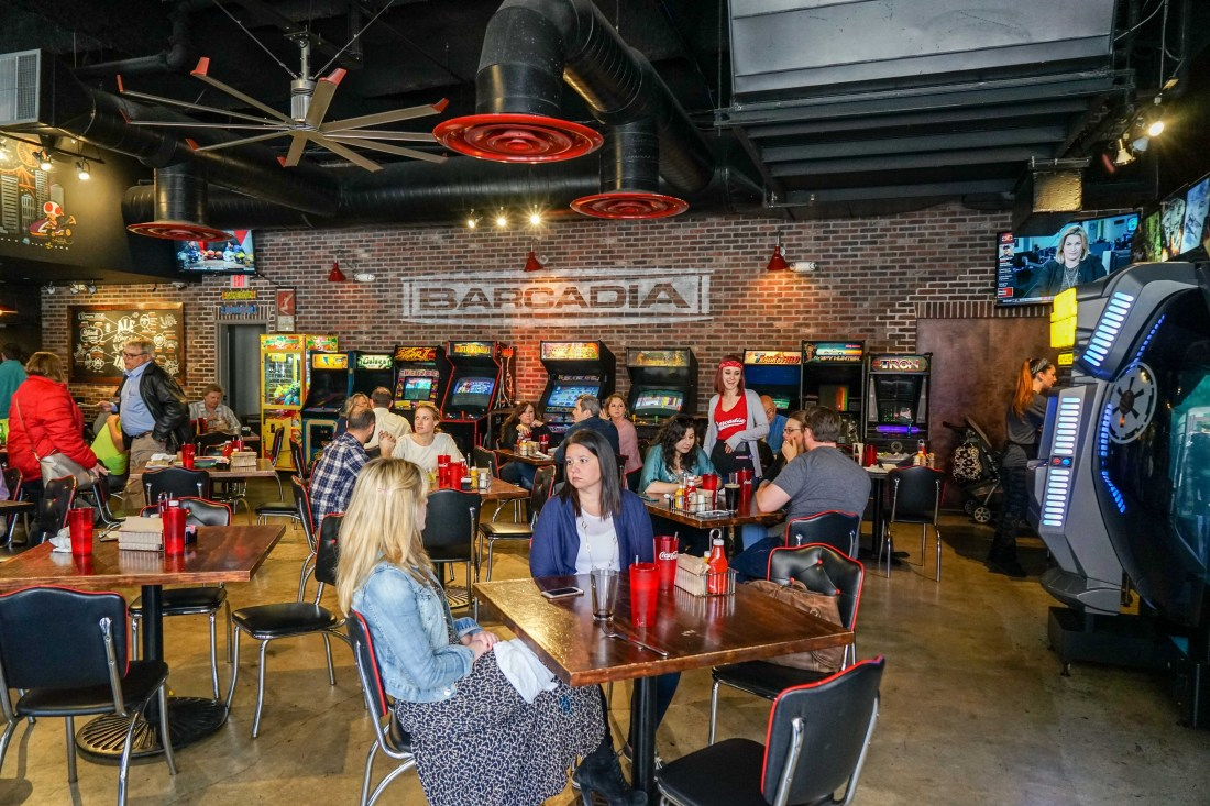 Part bar, part video arcade, Barcadia is a popular group hangout spot on Tchoupitoulas Street. After a few rounds, let's see who can repeat the name 'Tchoupitoulas' the fastest while racking up high scores on an old school arcade game....