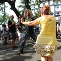 Dancing at Cajun-Zydeco Festival. (Photo: Cheryl Gerber)