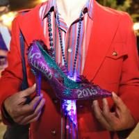 Hand-decorated Muses shoes are a coveted Mardi Gras throw. (Photo: Paul Broussard)