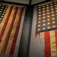 American flags inside The National World War II Museum. (Photo: Rebecca Ratliff)