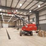 Sprinkler pipe install underway