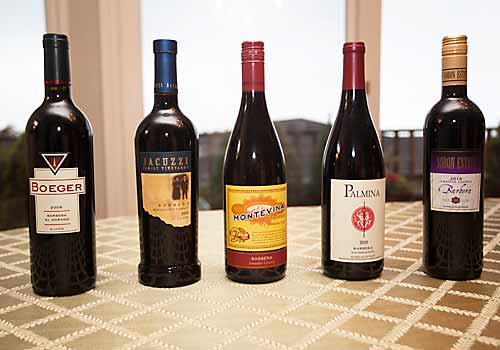 Barbera wines from California