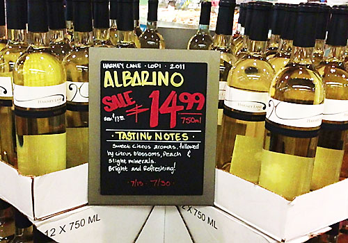 image of harney lane albarino at whole foods