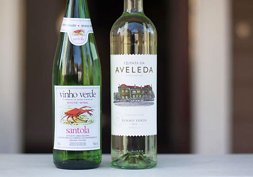 image of two vinho verde wines