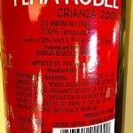 100% Tempranillo from Ribera Del Duero
