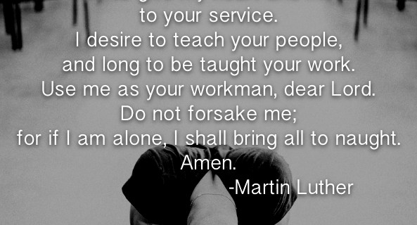Martin Luther's Sacristy Prayer
