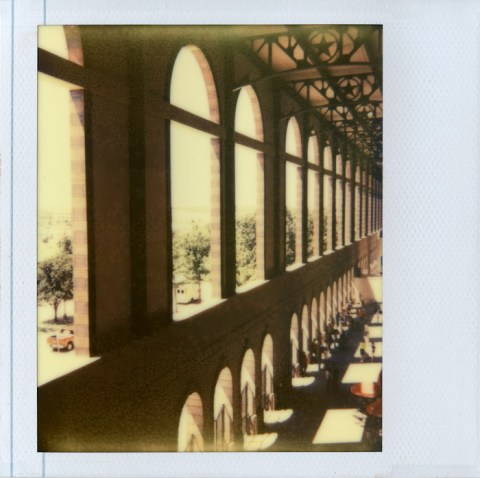 The Ballpark in Arlington - Impossible Project PZ680 - Polaroid Spectra AF