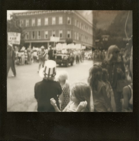 Photo: Synthia Goode - 4th of July Parade - Spectra SE - Impossible Project Black Frame PZ600