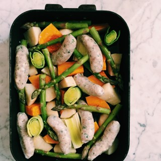 GoodFoodWeek's chicken and leek tray bake