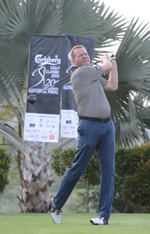 Mr. Henrik Juel Andersen, Managing Director of Carlsberg Malaysia is an avid golfer.