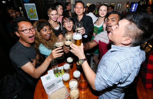 Fans at the Passport International Beerfest launch say 'cheers' to global experiences during the launch at Trec KL on Sept 22, 2016.