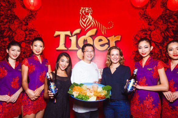 Third from left_ Jessie Chuah, Marketing Manager of Tiger Beer, Andrew Woon, Sales Director and Maud Meijboom-van Wel, Marketing Director of Heineken Malaysia Berhad