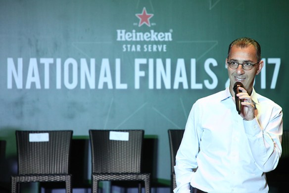 Hans Essaadi, Managing Director of HEINEKEN Malaysia delivering his speech during the Heineken® Star Serve National Finals 2017.