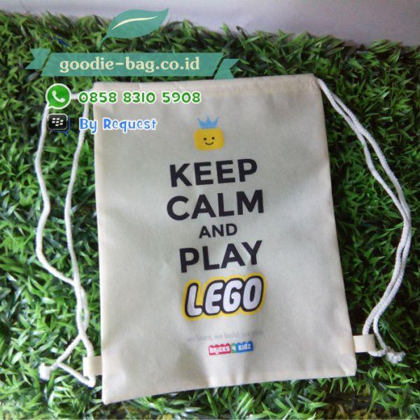 Serut Backpack Lego / Tas Promosi Murah